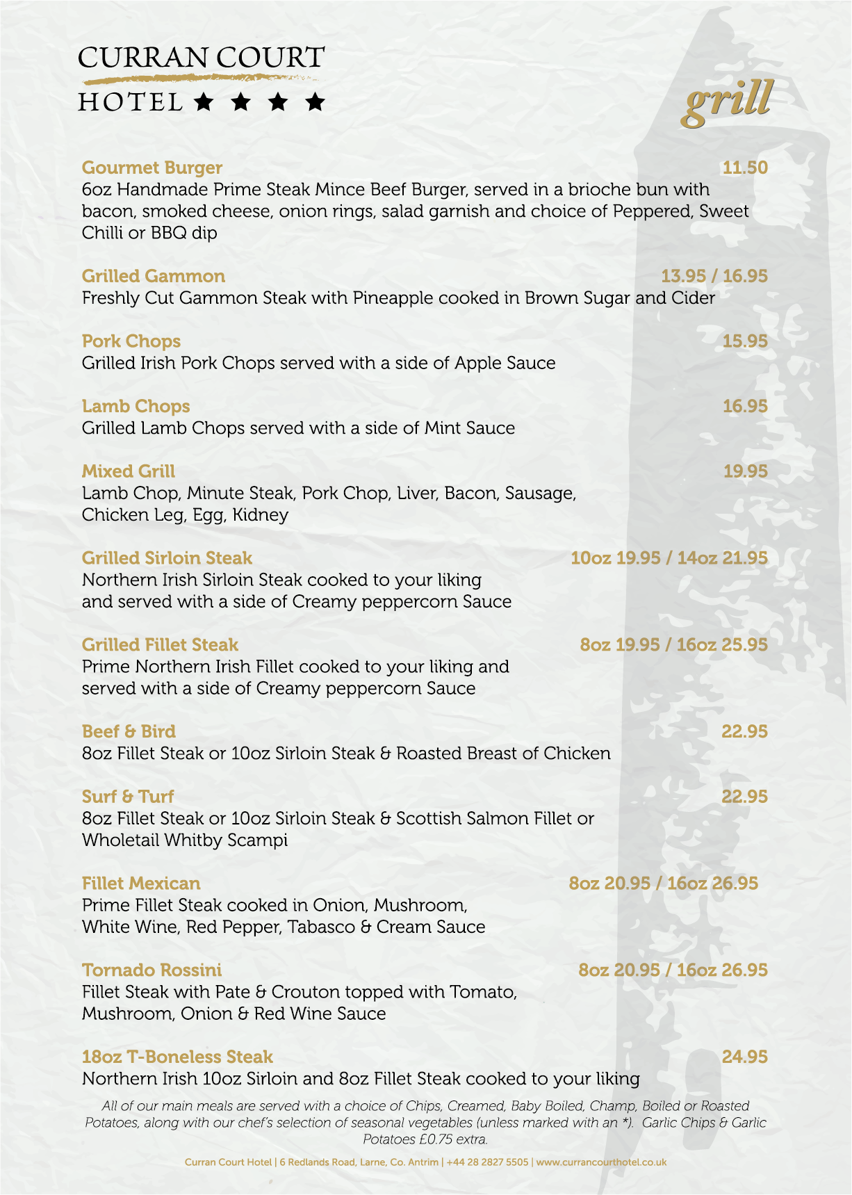 Curran Court Hotel | Evening Menu 4