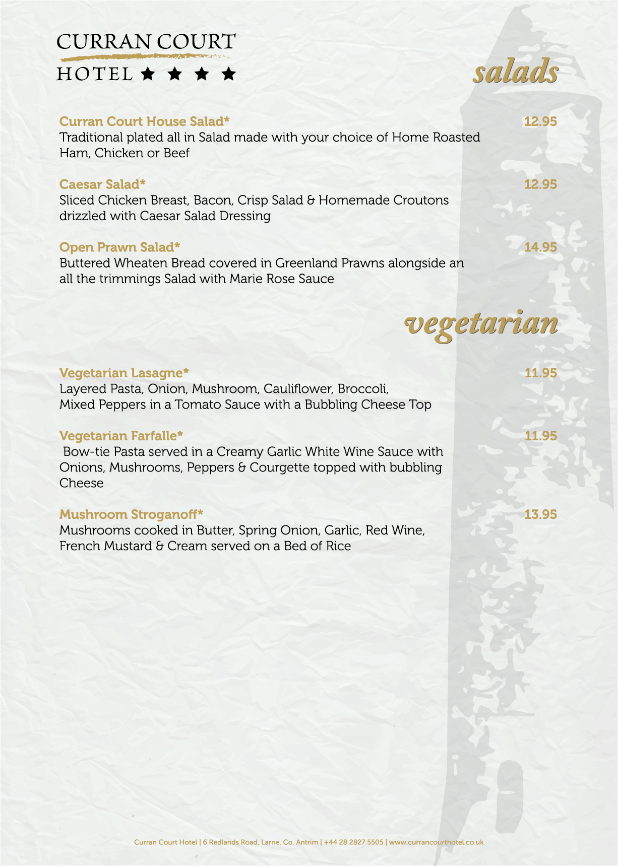 Curran Court Hotel | Evening Menu 6