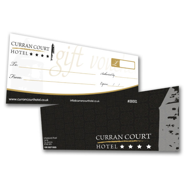 Curran Court Hotel Gift Vouchers